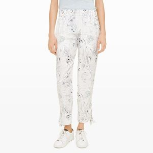 Luxury silk ultra light chic summer pants